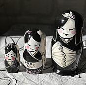Русский стиль handmade. Livemaster - original item Matryoshka Girl with rabbit. Handmade.