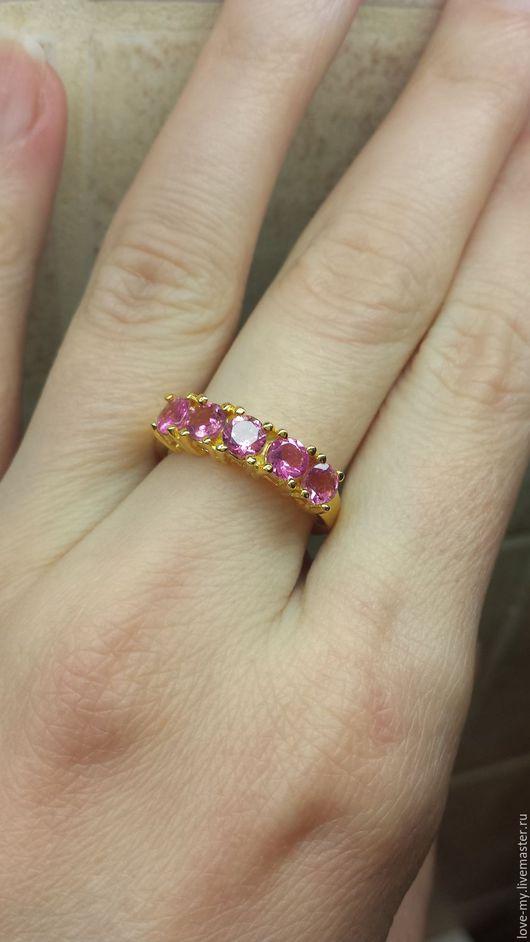 Кольца ручной работы. Ярмарка Мастеров - ручная работа. Купить SALE Розовые турмалины кольцо, серебро 925 пробы. Handmade.