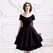 Одежда ручной работы. Ярмарка Мастеров - ручная работа Черное платье.. Handmade.