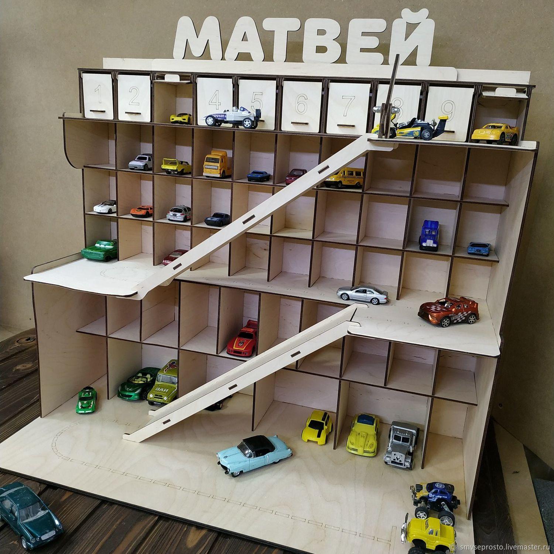 Паркинг детский для машинок с разметкой и шлагбаумом, Кукольные домики, Санкт-Петербург,  Фото №1