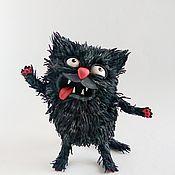 Мягкие игрушки ручной работы. Ярмарка Мастеров - ручная работа Игрушки: Черный кот. Handmade.