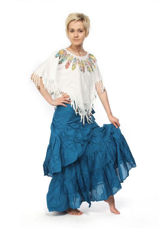 """Юбки ручной работы. Ярмарка Мастеров - ручная работа. Купить Юбка для танцев """"Мариан"""". Handmade. Тёмно-бирюзовый, юбка для танцев"""