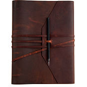 Канцелярские товары handmade. Livemaster - original item A4 notebook on rings made of genuine leather Crazy Horse. Handmade.