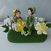 Куклы и игрушки ручной работы. Ярмарка Мастеров - ручная работа Эльфики с цветами. Handmade.