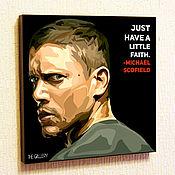 Картины и панно handmade. Livemaster - original item Picture poster Michael Scofield Pop Art. Handmade.