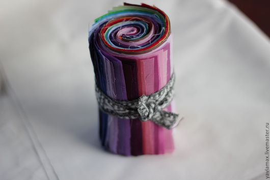 Шитье ручной работы. Ярмарка Мастеров - ручная работа. Купить ролл 60 оттенков двухсторонней ткани 10х20 см. Handmade.