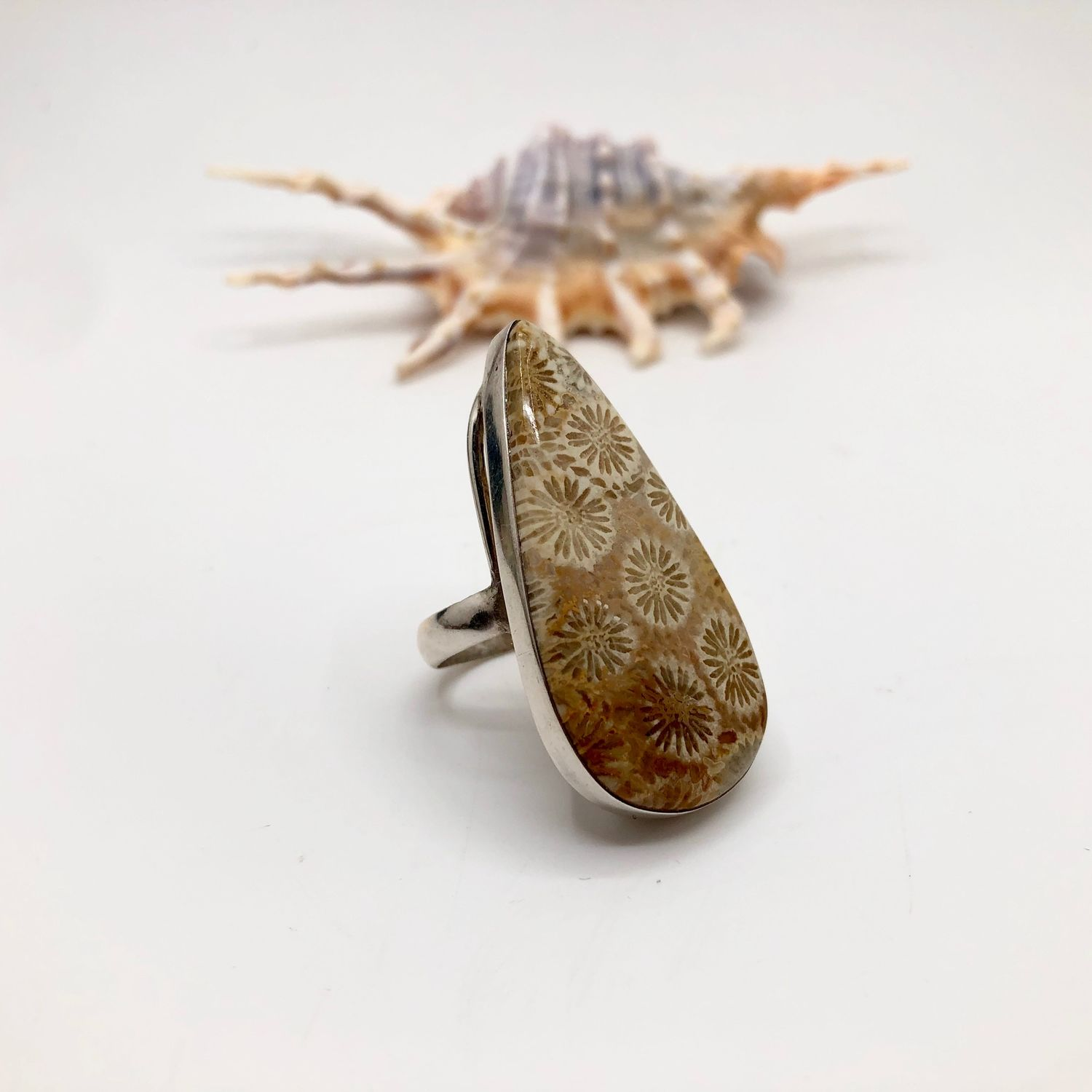 Ring with coral b, Rings, Feodosia,  Фото №1