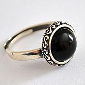 Украшения handmade. Livemaster - original item Silver ring with obsidian.. Handmade.