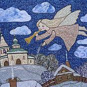 """Картины и панно ручной работы. Ярмарка Мастеров - ручная работа Панно"""" Ангел в небе"""". Handmade."""