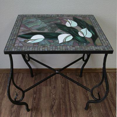 """Мебель ручной работы. Ярмарка Мастеров - ручная работа. Купить Столик """"Каллы"""". Handmade. Металл"""