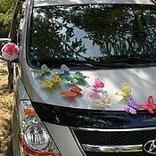 Свадебный салон ручной работы. Ярмарка Мастеров - ручная работа Бабочки перо средние 7-12 см на свадебное авто. Handmade.