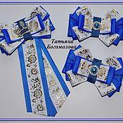 Работы для детей, ручной работы. Ярмарка Мастеров - ручная работа Школьный синий комплект. Handmade.