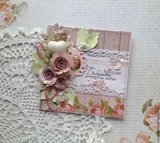 Открытки для женщин, ручной работы. Ярмарка Мастеров - ручная работа. Купить Дорогой бабушке открытка. Handmade. Открытка бабушке, бабочки