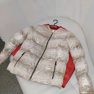 Одежда ручной работы. Ярмарка Мастеров - ручная работа Пуховик из питона. Handmade.