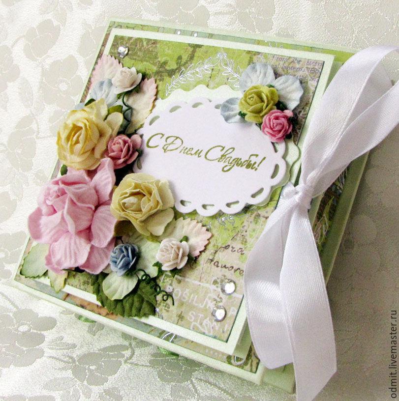 Большая свадебная открытка скрапбукинг 9