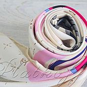 """Платки ручной работы. Ярмарка Мастеров - ручная работа Шелковый платок из ткани chanel """"Любовь по chanel"""" бежевый. Handmade."""