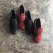 Обувь ручной работы handmade. Livemaster - original item Sports shoes made of genuine suede and leather in a choice of Velcro. Handmade.