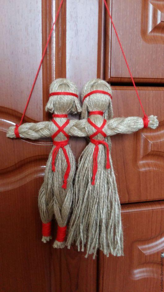 Народные куклы ручной работы. Ярмарка Мастеров - ручная работа. Купить Неразлучники - оберег для влюблённых. Handmade. Бежевый, ручная работа