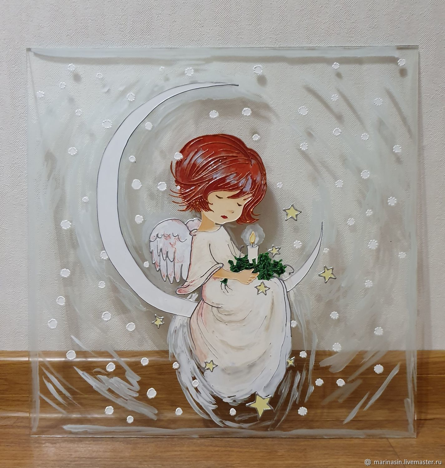 Picture on the glass ' Moon angel', Pictures, Novosibirsk,  Фото №1