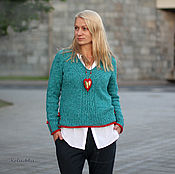 Одежда handmade. Livemaster - original item Pullover. Matters of the heart. Handmade.