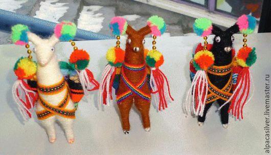 Игрушки животные, ручной работы. Ярмарка Мастеров - ручная работа. Купить Альпака из ткани. Handmade. Комбинированный, лама, южная америка