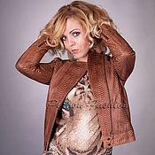 Одежда handmade. Livemaster - original item Women`s Python jacket FLORENCE. Handmade.