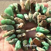 Хризопраз 10 см необработанный бусины камни для украшений