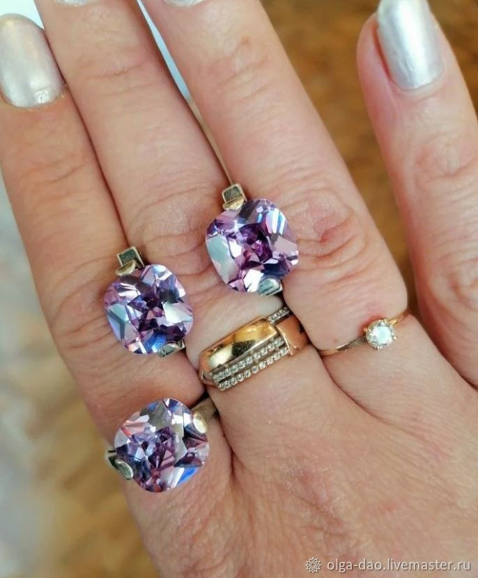 Jewelry sets: 3 sets with amethyst.serebro925, Jewelry Sets, Moscow,  Фото №1