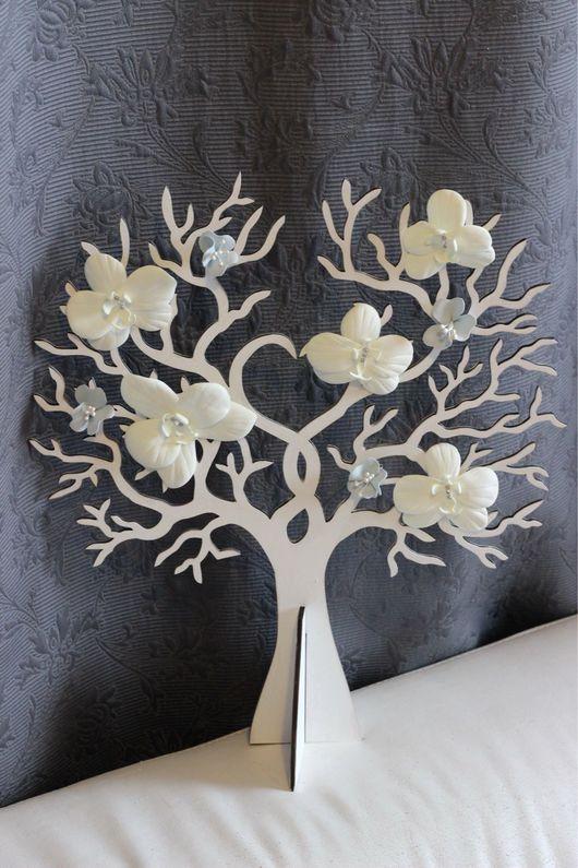 Свадебные аксессуары ручной работы. Ярмарка Мастеров - ручная работа. Купить Свадебное дерево для пожеланий. Handmade. Дерево счастья