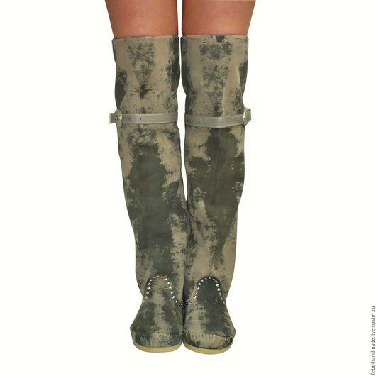 Обувь ручной работы. Ярмарка Мастеров - ручная работа. Купить Демисезонные сапоги -ботфорты HESSIAN bots /38 в наличии/. Handmade.