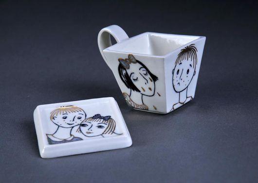 """Сервизы, чайные пары ручной работы. Ярмарка Мастеров - ручная работа. Купить Чайная пара """"Про любовь"""". Handmade."""