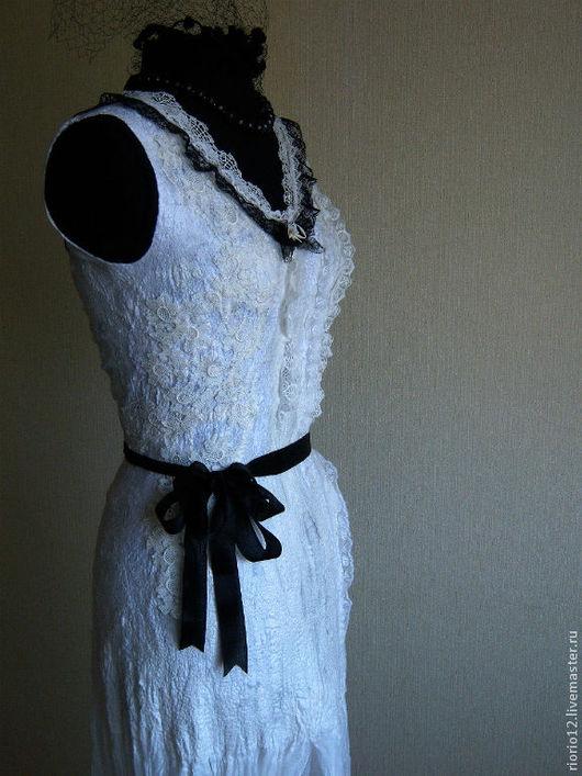 """Платья ручной работы. Ярмарка Мастеров - ручная работа. Купить Платье ручной работы """"Немое кино"""". Handmade. Чёрно-белый"""