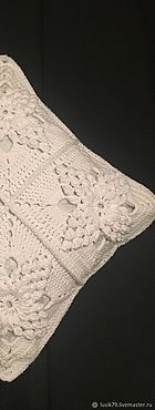 Textiles handmade. Livemaster - original item Pillow case crocheted snowflake on the palm. Handmade.