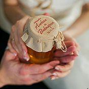 Свадебный салон ручной работы. Ярмарка Мастеров - ручная работа Этикетка на баночку с вареньем/медом. Handmade.