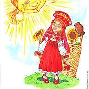 Картины и панно handmade. Livemaster - original item Picture of the SUN. Handmade.