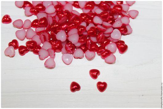Шитье ручной работы. Ярмарка Мастеров - ручная работа. Купить полубусины сердце СЕРДЦЕ 8х8 мм белый. Handmade. Пуговицы