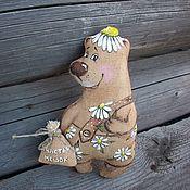 Куклы и игрушки handmade. Livemaster - original item Coffee Bear with a bag of happiness... daisy.... Handmade.