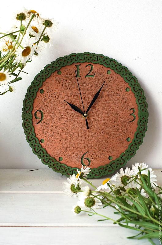 Часы для дома ручной работы. Ярмарка Мастеров - ручная работа. Купить Часы настенные Кельтские Орнаменты II. Handmade. Золотой