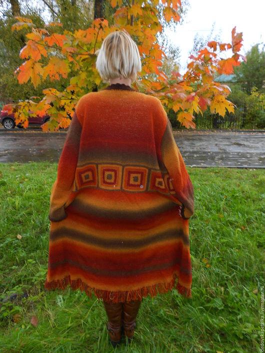 Кофты и свитера ручной работы. Ярмарка Мастеров - ручная работа. Купить Вязанный кардиган в стиле бохо. Handmade. Комбинированный, орнамент