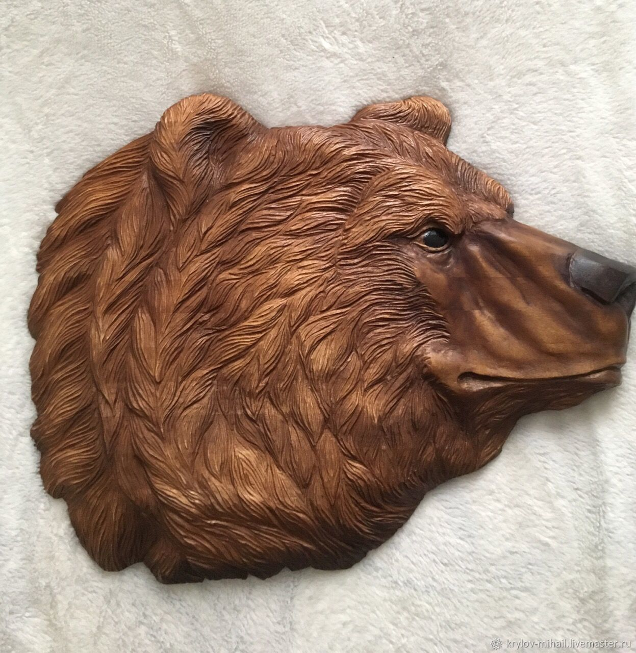 Carved painting ' bear', Interior elements, Kostroma,  Фото №1