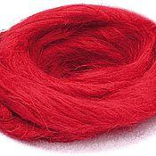 Материалы для творчества ручной работы. Ярмарка Мастеров - ручная работа Лен, цвет красный. Handmade.