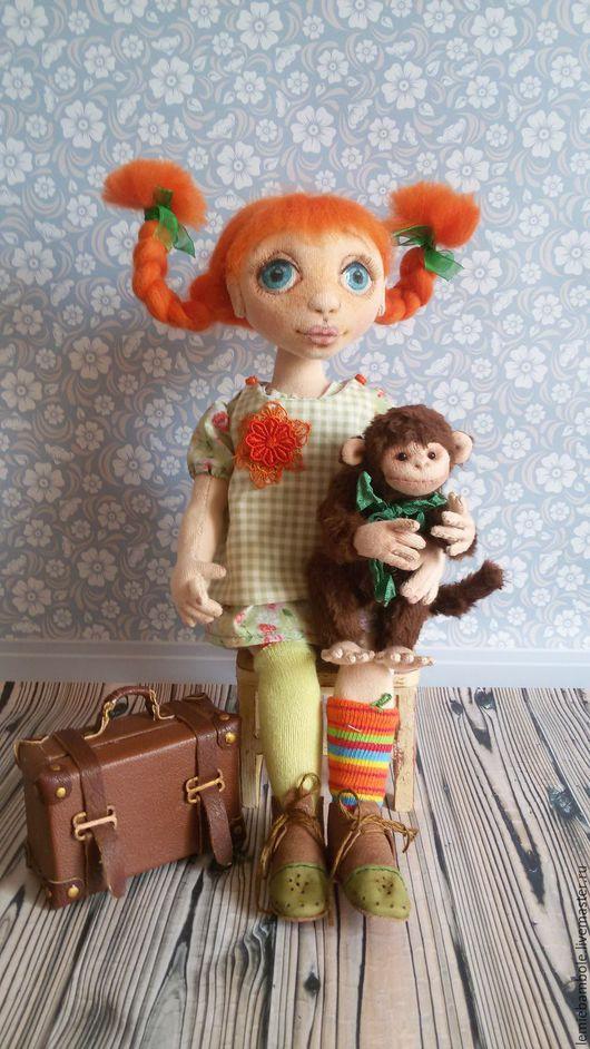 Коллекционные куклы ручной работы. Ярмарка Мастеров - ручная работа. Купить Пеппи. Handmade. Комбинированный, обезьяна, текстильная кукла