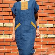 Одежда ручной работы. Ярмарка Мастеров - ручная работа Платье льняное с вышивкой. Handmade.
