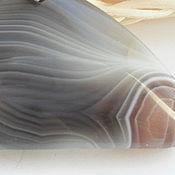Украшения ручной работы. Ярмарка Мастеров - ручная работа Кулон Ботсванский агат треугольник- ТАЛИСМАН. Handmade.