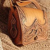 Сумки и аксессуары ручной работы. Ярмарка Мастеров - ручная работа сумка кожаная коробочкой. Handmade.