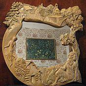 """Для дома и интерьера ручной работы. Ярмарка Мастеров - ручная работа Резная рама для зеркала """"Озеро"""". Handmade."""