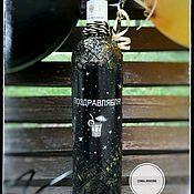 Бутылки ручной работы. Ярмарка Мастеров - ручная работа Декупаж бутылки в подарок. Handmade.