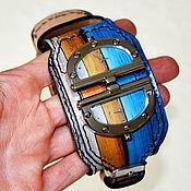 Часы наручные ручной работы. Ярмарка Мастеров - ручная работа Наручные часы с двумя циферблатами - Ручная роспись. Handmade.
