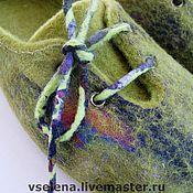"""Обувь ручной работы. Ярмарка Мастеров - ручная работа тапочки """"мягкой поступью зеленых мхов"""" проданы. Handmade."""