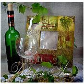 """Для дома и интерьера ручной работы. Ярмарка Мастеров - ручная работа зеркало-ключница """"Вино из Тосканы"""". Handmade."""